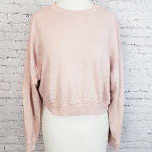 ASOS Blush Cropped Pullover Sweatshirt Size 8